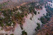 Aerial photograph of Devil's Lake State Park, near Baraboo, Sauk County, Wisconsin, USA.