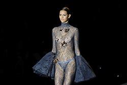 September 16, 2016 - Madrid, Madrid, Spain - A models walks during Andres Sarda Fashion Show at Madrid Fashion Week Spring/Summer 2017/18 at Ifema, on September 16, 2016, in Madrid, Spain. (Credit Image: © Oscar Gonzalez/NurPhoto via ZUMA Press)