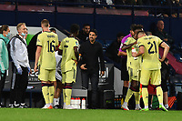 Football - 2021 / 2022 EFL Carabao Cup - Round Two - West Bromwich Albion vs Arsenal - The Hawthorns - Wednesday 25th August 2021.<br /> <br /> Arsenal head coach Mikel Arteta with Bukayo Saka.<br /> <br /> COLORSPORT/Ashley Western