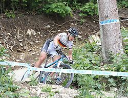 01.06.2014, Bullentaele, Albstadt, GER, UCI Mountain Bike World Cup, Cross Country Damen, im Bild Sabine Spitz Deutschland // during Womens Cross Country Race of UCI Mountainbike Worldcup at the Bullentaele in Albstadt, Germany on 2014/06/01. EXPA Pictures © 2014, PhotoCredit: EXPA/ Eibner-Pressefoto/ Langer<br /> <br /> *****ATTENTION - OUT of GER*****