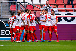 Bart Ramselaar of FC Utrecht, Sean Klaiber of FC Utrecht, Django Warmerdam of FC Utrecht, Mimoun Mahi of FC Utrecht scores the 1-0 during eredivisie round 03 between FC Utrecht and RKC at Nieuw Galgenwaard stadium on September 27, 2020 in Utrecht, Netherlands