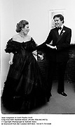 Jane Longmore & Lord Charles Cecil. Leap Year Ball. Hatfield House. 29/2/84. Film 84119f17a<br />© Copyright Photograph by Dafydd Jones<br />66 Stockwell Park Rd. London SW9 0DA<br />Tel 0171 733 0108