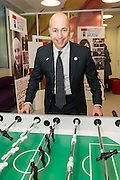 Ivan Gazidis, CEO of Arsenal Football Club, in the area of the unit that the club helped to fund. Teenage Cancer Trust patron Sarah, Duchess of York opened Teenage Cancer Trust's first specialist outpatient facility for young cancer patients. It is situated in University College Hospital's Macmillan Cancer Centre, London.