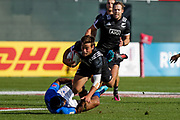 Dubai UAE. Andrew Knewstubb of New Zealand in action against Samoa, during day one of the IRB World Rugby HSBC Sevens Series 2018, 1 December 2017.<br /> Copyright photo: Francois Steenkamp / www.photosport.nz