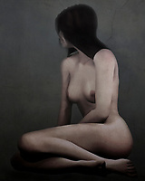 This acryl on canvas painting introduces to a woman whose name is Sara. She isn't looking at us. She is looking off at something we can't see. Her fully nude form is on display in this piece, and it is a beautiful example of the human form. She doesn't seem to be particularly tense, but she also seems to be distracted by something out of the frame of the piece. She is lost in her thoughts. We do not know what she is thinking. We certainly don't know where she's going next. This piece is available in the form of wall art. .<br /> <br /> BUY THIS PRINT AT<br /> <br /> FINE ART AMERICA<br /> ENGLISH<br /> https://janke.pixels.com/featured/sara-jan-keteleer.html<br /> <br /> WADM / OH MY PRINTS<br /> DUTCH / FRENCH / GERMAN<br /> https://www.werkaandemuur.nl/nl/shopwerk/Erotisch-naakt---Naakt-verdwaald-in-haar-gedachten-/445503/134