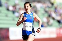 Friidrett ,  11. juni 2015 , Diamond League , Bislett Games , Oslo<br />  Atheltics<br /> 1500 m<br /> Christina Hopland , NOR