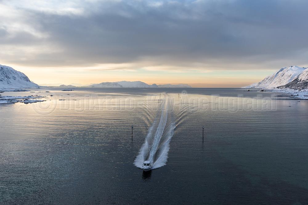 "This ship fairway is called ""Vaulen"" and is located nearby Nerlandsøy, Norway | Søre Vaulen i Herøy Kommune. Bildet er tatt fra Kvalsundbrua."