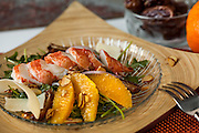 This salad is one of ten dishes I photographed for a lobster company out of Stonington, Maine. Such a delicious combination of citrus, dates and sweet lobster tails.