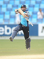 ICC World Twenty20 Qualifier UAE 2012.Scotland beat Canada by 4 wickets with 0 balls remaining in the 5th place play off at the Dubai International Cricket Stadium, Dubai..Pic shows an delighted Ryan Flannigan celebrates.