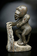 African Art - Mythological figure carved in stone
