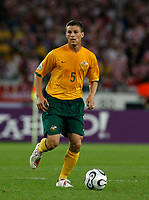 Photo: Glyn Thomas.<br />Croatia v Australia. Group F, FIFA World Cup 2006. 22/06/2006.<br /> Australia's Jason Culina.