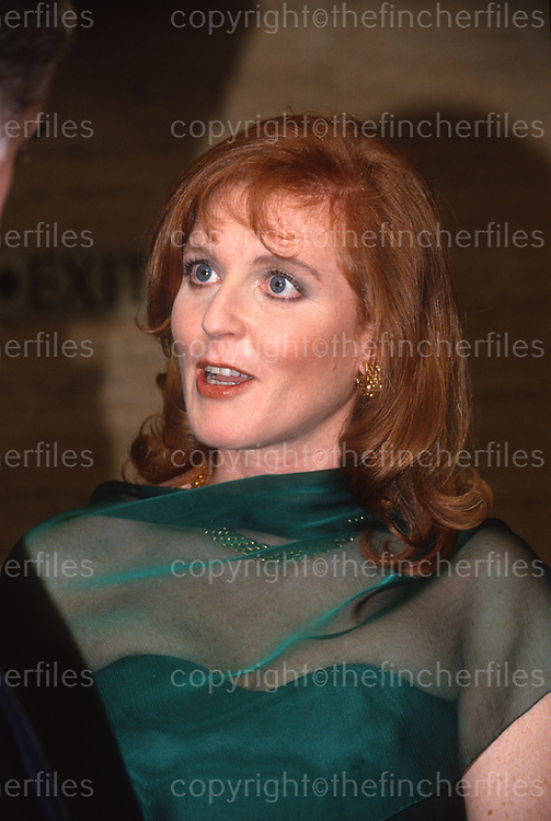 Sarah, Duchess of York seen at a charity event at the Savoy Hotel, London in February 1993. Photograph by Jayne Fincher
