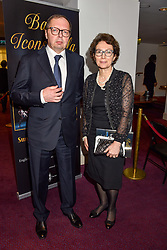 26 January 2020 - The Russian Ambassador to the UK Andrei Kelin and his wife Irina at the Ballet Icons Gala at the London Coliseum, St.Martin's Lane, London.<br /> <br /> Photo by Dominic O'Neill/Desmond O'Neill Features Ltd.  +44(0)1306 731608  www.donfeatures.com