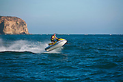 Active Man Riding Seadoo in Dana Point