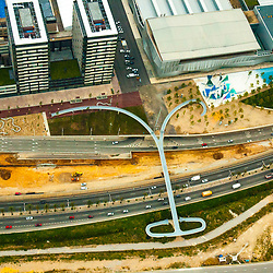 Aerial views of Rhonda Litoral Barcelona Spain