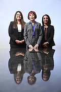 SHOT 12/4/19 11:34:29 AM - McGuane & Hogan, P.C., a Colorado family law firm located in Denver, Co. Includes attorneys Kathleen Ann Hogan, Halleh T. Omidi and Katie P. Ahles. (Photo by Marc Piscotty / © 2019)