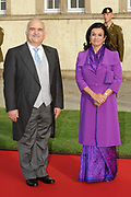 Religious wedding of Grand Duke Guillaume and Princess Stephanie at the Cathedral Notre-Dame in Luxembourg <br /> <br /> On the photo:  Princess Sarvath of Jordan and Prince Hassan