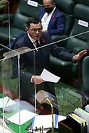 Premier Daniel Andrews speaks during Question Time