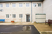 The entrance into Beaufort House, a skill development unit for enhanced prisoners. Part of HMP/YOI Portland, a resettlement prison with a capacity for 530 prisoners.Dorset, United Kingdom.