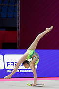Dargel Melanie from Germany is competing in the Rhythmic Gymnastics World Cup at Vitrifrigo Arena on 28/29 May 2021, Pesaro, Italy. She was born in Euskirchen in 2005.<br /> .