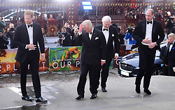 The Duke of Sussex, the Prince of Wales, Sir David Attenbrough and the Duke of Cambridge attending the global premiere of Netflix's Our Planet, held at the Natural History Museum, London.
