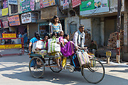Street scene in city of Varanasi, Benares, Northern India