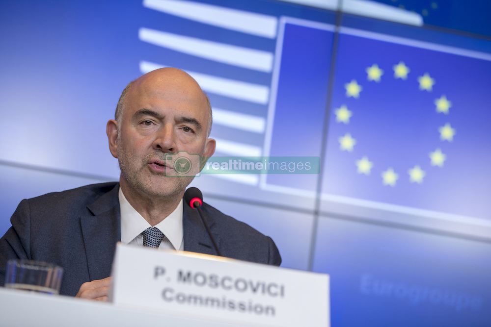Luxembourg -  October 11, 2018.Eurogroup meeting..Pierre Moscovici, European Commissioner for Economic and Financial Affairs, Taxation and Customs. (Credit Image: © Zucchi/Euc/Ropi via ZUMA Press)