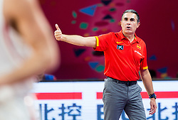 Sergio Scariolo, head coach of Spain during basketball match between National Teams of Spain and Turkey at Day 11 in Round of 16 of the FIBA EuroBasket 2017 at Sinan Erdem Dome in Istanbul, Turkey on September 10, 2017. Photo by Vid Ponikvar / Sportida