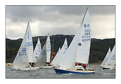 The final day of the Bell Lawrie Scottish Series, breezy and bright conditions from the North allowed the sailors to compete on a level par...Sonata Class start with GBR8217N So in the foreground..