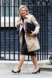 London, October 10 2017. Education Secretary Justine Greening attends the UK cabinet meeting at Downing Street. © Paul Davey