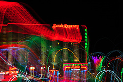 """""""Reno Lights 12"""" - The Grand Sierra Resort photographed in Reno, Nevada. The abstract effect was obtained in camera by long exposure mixed with intentional camera movement."""