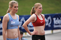 Sprinter Pia Tajnikar and Maja Mihalinec at 4th Memorial of Matic Sustersic and Patrik Cvetan athletic meeting of Grand Prix Vzajemna, on June 1, 2009, in ZAK, Ljubljana, Slovenia. (Photo by Vid Ponikvar / Sportida)
