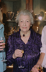 The DOWAGER VISCOUNTESS DE L'ISLE  at an exhibition in London on April 24th 1997.LXY 47 WICO