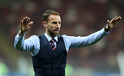 England manager Gareth Southgate bows to fans after the FIFA World Cup, Semi Final match at the Luzhniki Stadium, Moscow. PRESS ASSOCIATION Photo. Picture date: Wednesday July 11, 2018. See PA story WORLDCUP Croatia. Photo credit should read: Owen Humphreys/PA Wire. RESTRICTIONS: Editorial use only. No commercial use. No use with any unofficial 3rd party logos. No manipulation of images. No video emulation.