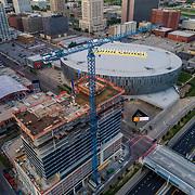 Two Light Tower construction underway in downtown Kansas City, Missouri. June 2017.