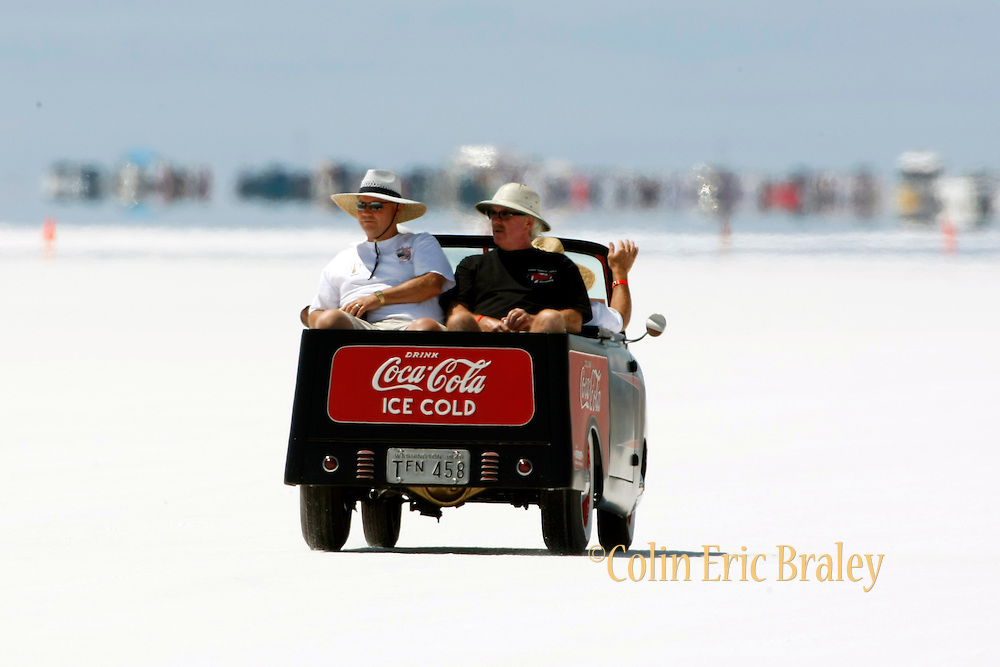 The best cars-people-atmosphere-photos of 2009 Bonneville Speed Week-  Antique Coca-Cola Truck at the Bonneville Speed Way. August 9, 2009.  Photo by Colin E. Braley