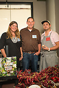 Mindy and Justin Enos of Full Table Farm in Napa, CA with Chef Sam Smith of Ava Genes. Sam created a dish with the Enos' own variety of paprika, apple, cucumber and hazelnut.