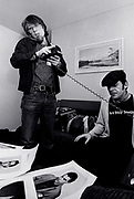 Ian Dury and Peter Jenner backstage 1979