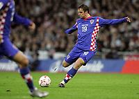 Photo: Paul Thomas/Sportsbeat Images.<br /> England v Croatia. UEFA European Championships Qualifying. 21/11/2007.<br /> <br /> Niko Kranjcar of Croatia scores early.