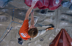 Climber Jorg Verhoeven (NED) at World cup competition in Zlato polje, Kranj, Slovenia, on November 15, 2008.  (Photo by Vid Ponikvar / Sportida)