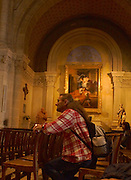 Nimes, Southern France, Catholic Church and Worshiper