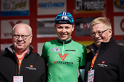 Anna Plichta (POL) leads the Lotto Cycling Cup sprint competition at Le Samyn des Dames 2019, a 101 km road race from Quaregnon to Dour, Belgium on March 5, 2019. Photo by Sean Robinson/velofocus.com