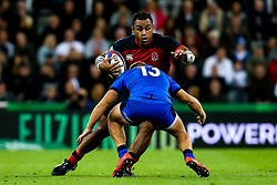 Billy Vunipola of England takes on Giulio Bisegni of Italy - Mandatory by-line: Robbie Stephenson/JMP - 06/09/2019 - RUGBY - St James's Park - Newcastle, England - England v Italy - Quilter Internationals
