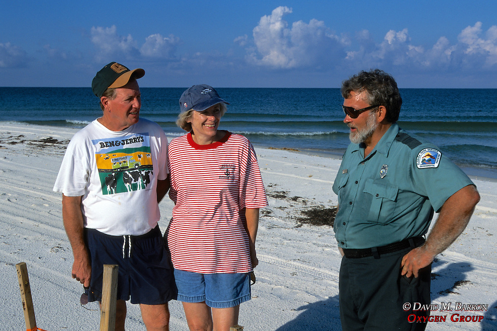 John & Peggy Jordan Looking At Turtle Nest