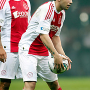 Ajax's Demy de ZEEUW (L) and Miralem SULEJMANI (R) during their Friendly soccer match Galatasaray between Ajax at the Turk Telekom Arena at Arslantepe in Istanbul Turkey on Saturday 15 January 2011. Turkish soccer team Galatasaray new stadium Turk Telekom Arena opening ceremony. Photo by TURKPIX