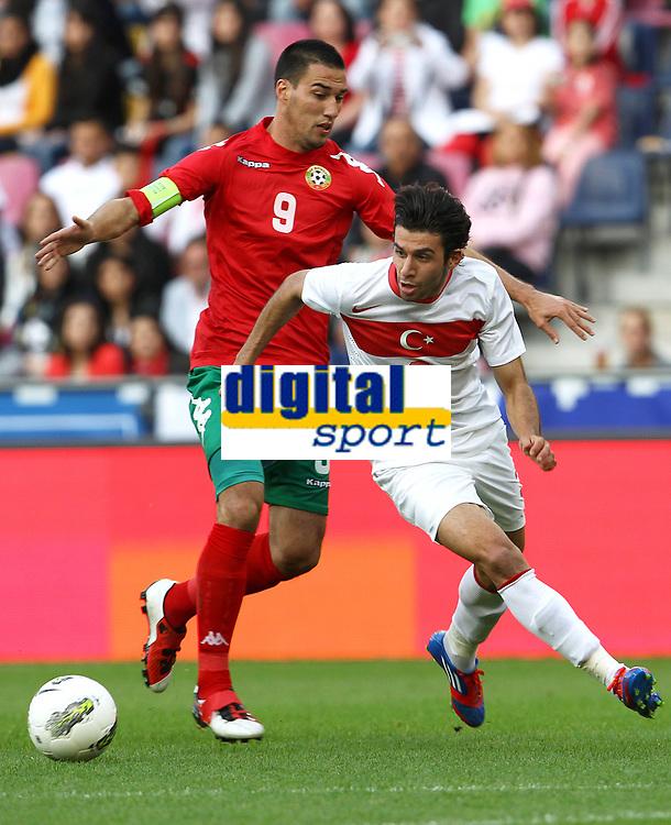 Fotball<br /> Bulgaria v Tyrkia<br /> Salzburg Østerrike<br /> 29.05.2012<br /> Foto: Gepa/Digitalsport<br /> NORWAY ONLY<br /> <br /> Laenderspiel, Bulgarien vs Tuerkei, Freundschaftsspiel. <br /> <br /> Bild zeigt Ivelin Popov (BUL) und Ismail Koeybasi (TUR).