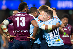 March 9, 2019 - Sydney, NSW, U.S. - SYDNEY, NSW - MARCH 09: Waratahs players celebrate the try of Alex Newsome (23) at round 4 of Super Rugby between NSW Waratahs and Queensland Reds on March 09, 2019 at The Sydney Cricket Ground, NSW. (Photo by Speed Media/Icon Sportswire) (Credit Image: © Speed Media/Icon SMI via ZUMA Press)