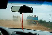 Trucks between Siem reap e Phnom Penh, Cambodia. PHOTO TIAGO MIRANDA
