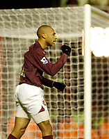 Photo: Leigh Quinnell.<br /> Arsenal v Portsmouth. The Barclays Premiership.<br /> 28/12/2005. Thierry Henry celebrates his goal for Arsenal.