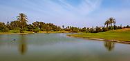 PANORAMA - Grote waterhindernissen bij Golf du Soleil in Agadir. De 36 holes van Golf du Soleil werden ontworpen door Fernando Muela en Gerard Courbin.